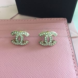 CHANEL Jewelry - Authentic Chanel Crystal Stone Stud Earrings